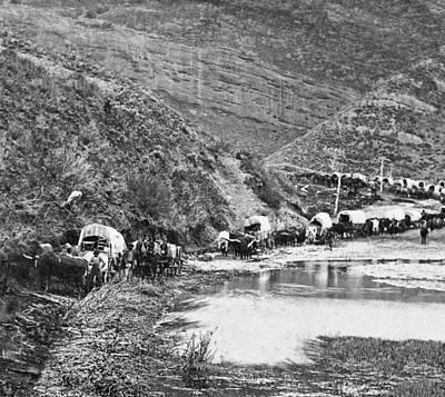 Mormon Emigrant Conestoga Caravan 1879 - To Utah Art Print by Daniel Hagerman