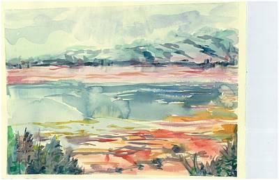 Mormon Lake Art Print by Marilyn Miller