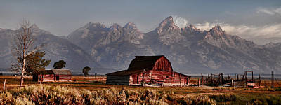 Photograph - Mormon Row And Grand Teton Vintage Finish by Ken Smith
