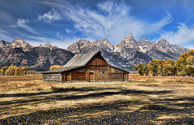 Photograph - Mormon Row Barn by David Armstrong