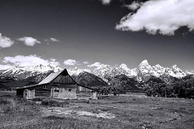 Photograph - Mormon Row Barn Grand Teton National Park by Allen Beatty