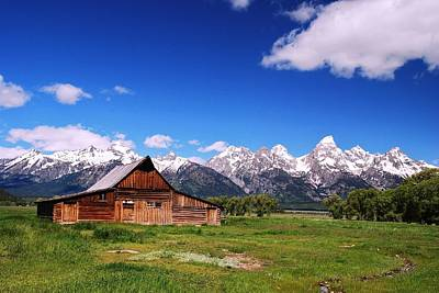 Photograph - Mormon Row Barn -  Grand Tetons National Park by Allen Beatty