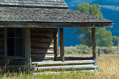 Photograph - Mormon Row Cabin by Sharon Seaward