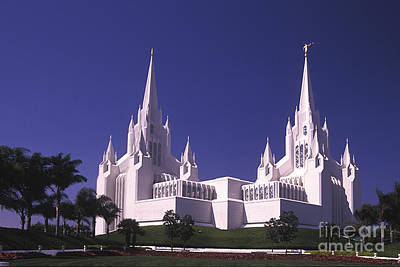 Photograph - Mormon Temple - 2 by Paul W Faust -  Impressions of Light