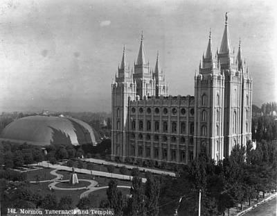 Mormon Temple, C1900 Art Print