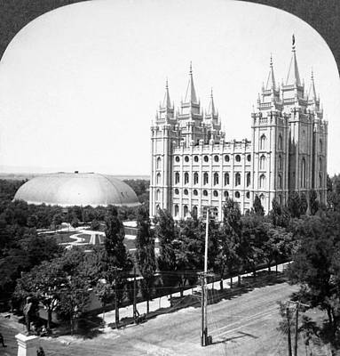Mormon Temple, C1910-1920 Art Print