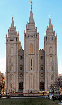 Photograph - Mormon Temple by Tikvah's Hope