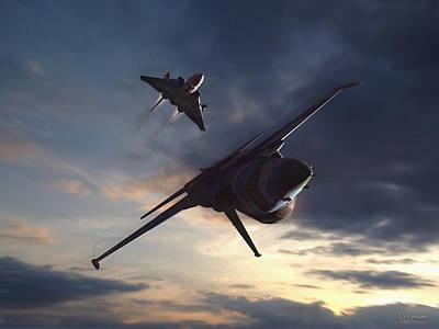 Morning Aerobatics Art Print by Dorian Dogaru