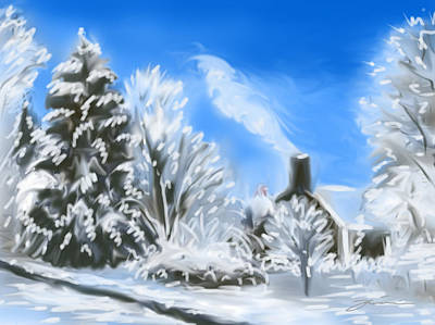 Painting - Morning After The Snowstorm  by Jean Pacheco Ravinski