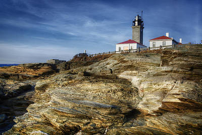 Ri Photograph - Morning At Beavertail Lighthouse by Joan Carroll