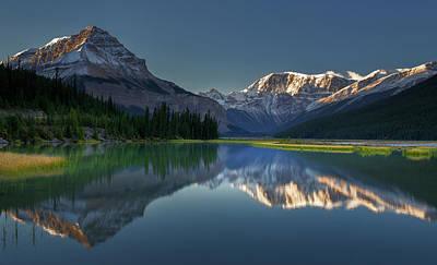 Rocky Mountains Photograph - Morning At Canadian Rocky Mt. by Jianyi Wu