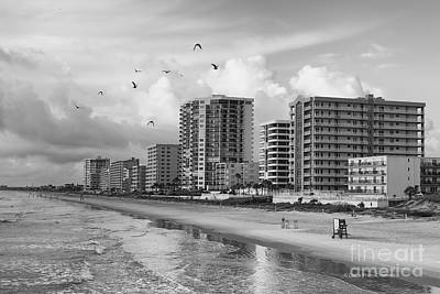 Morning At Daytona Beach Art Print