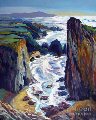Bfa Painting - Morning At Gleason Beach by Vanessa Hadady BFA MA