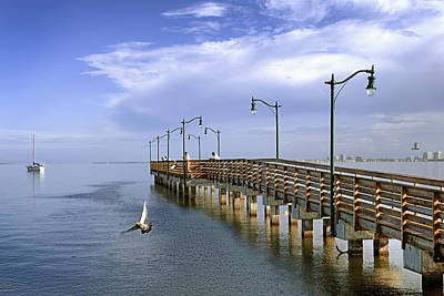 Photograph - Morning At Jensen Pier by Patrick M Lynch