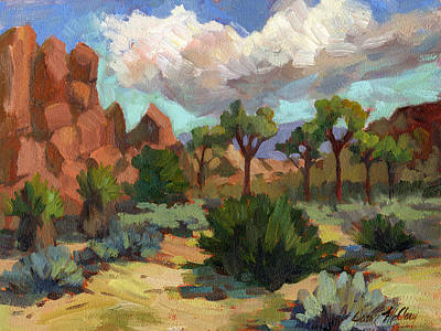 Joshua Painting - Morning At Joshua by Diane McClary