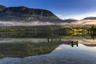 Morning At Lake Bohinj Art Print