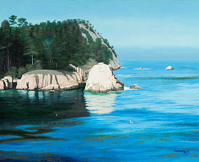 Painting - Morning At Point Lobos #2 by Michael Putnam