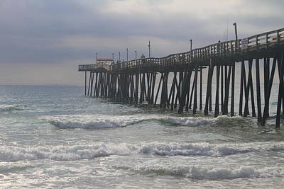 Outerbanks Photograph - Morning At Rodanthe Pier 10  by Cathy Lindsey