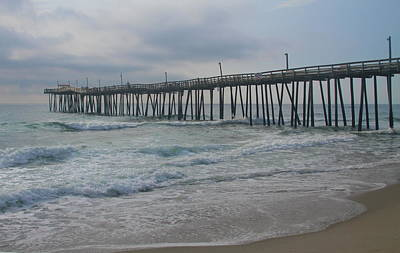 Photograph - Morning At Rodanthe Pier 14 by Cathy Lindsey