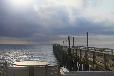 Waterside Photograph - Morning At Rodanthe Pier 16 by Cathy Lindsey