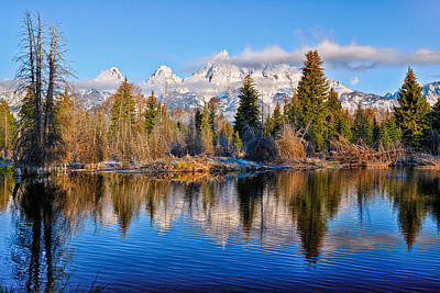 Tetons Photograph - Morning At Schwabacher Landing by Greg Norrell