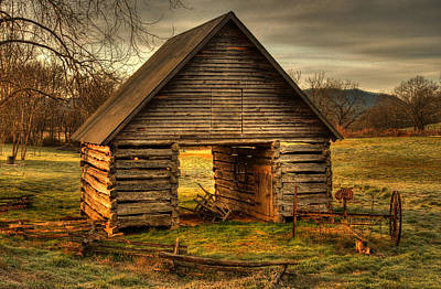 Barn Photograph - Morning At The Barn by Greg and Chrystal Mimbs