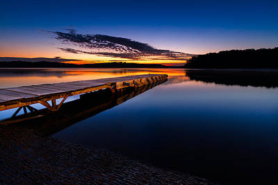 Wooden Platform Photograph - Morning At The Lake by Tommy Brison