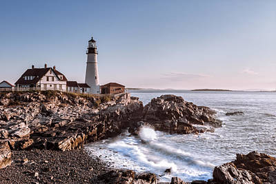 Morning At The Lighthouse Art Print by Eduard Moldoveanu