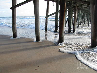 Morning At The Pier Art Print by Michele Napier-Berg