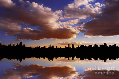 Morning At The Reservoir New York City Usa Art Print