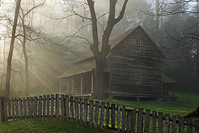 Morning At The Tipton Place Art Print by Deb Campbell