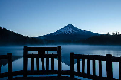Photograph - Morning At Trillium Lake by Margaret Pitcher