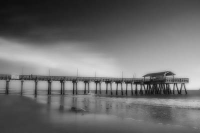 Art Print featuring the photograph Morning At Tybee Island Pier by Frank Bright