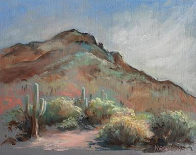 Painting - Morning At Usery Mountain Park by Peggy Wrobleski