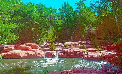 Digital Art - Morning At Wet Beaver Creek by Steven Barrows