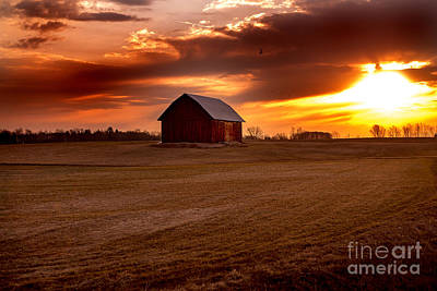 Morning Barn Art Print by Randall  Cogle