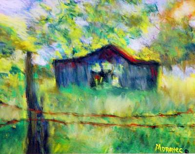 Photograph - Morning Barn by Shirley Moravec