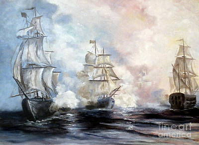 Art Print featuring the painting Morning Battle by Lee Piper