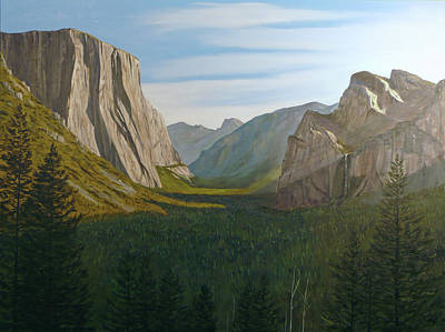 Half Dome Painting - Morning Becomes The Valley by Donald Britton