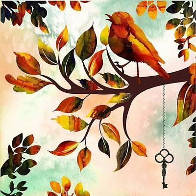 Morning Bird Art Print by Lilia D