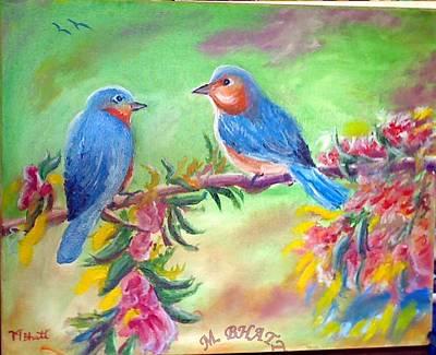 Painting - Morning Birds by M Bhatt