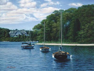 Morning Blue - Cape Cod Art Print by Julia O'Malley-Keyes