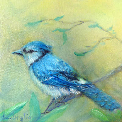 Painting - Morning Blue Jay by Loretta Luglio