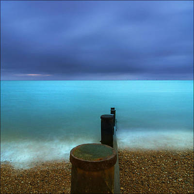 Silver Turquoise Photograph - Morning Blues by Adrian Campfield
