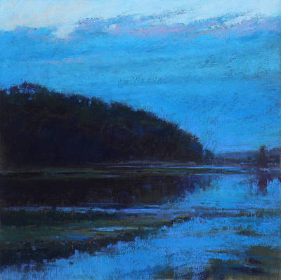 East Sandwich Painting - Morning Blues by Ed Chesnovitch