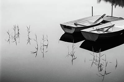 Calm Photograph - Morning By The Lake by Mats Persson