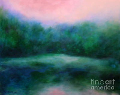 Art Print featuring the painting Morning Calm by Alison Caltrider