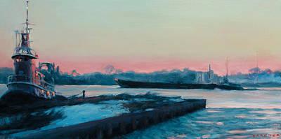 Philadelphia Scene Painting - Morning Calm by Jesse Gardner