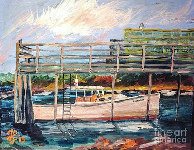 Painting - Morning Cape Porpoise by Francois Lamothe