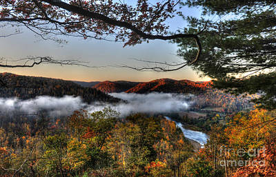 Art Print featuring the photograph Morning Cheat River Valley by Dan Friend